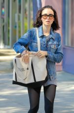 LILY COLLINS Out in West Hollywood 08/23/2016
