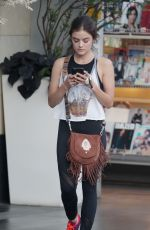 LUCY HALE Arrives at Soulcycle in West Hollywood 08/02/2016
