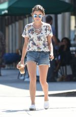 LUCY HALE in Cut Off Out for Coffee in Los Angeles 08/01/2016