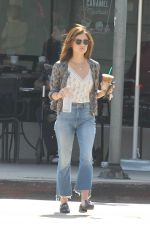 LUCY HALE Leaves a Starbucks in Los Angeles 08/11/2016