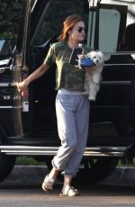 LUCY HALE Out with Her Dog in Studio City 08/01/2016