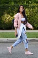 MADISON BEER in Ripped Jeans Out and About in Beverly Hills 08/29/2016