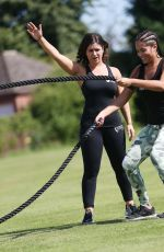 MALIN ANDERSSON Working Out at a Oark in Hertfordshire 08/07/2016