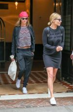 MARGOT ROBBIE and CARA DELEVINGNE Leaves Their Hotel in New York 08/02/2016