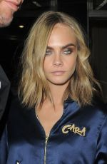 MARGOT ROBBIE and CARA DELEVINGNE Night Out in London 08/03/2016