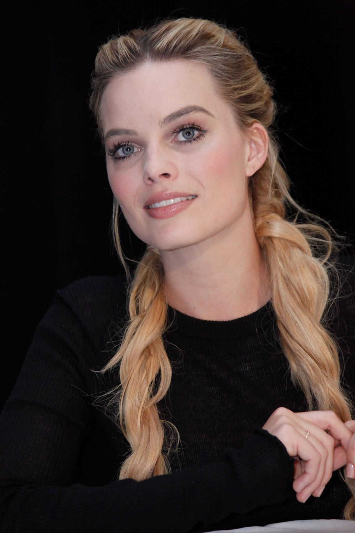 Margot Robbie At Suicide Squad Press Conference In New