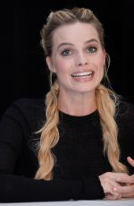 MARGOT ROBBIE at Suicide Squad Press Conference in New York 07/30/2016