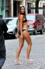 MARIANNE MCKINNEY in Bikini on the Set of a Photoshoot in New York 08/01/2016