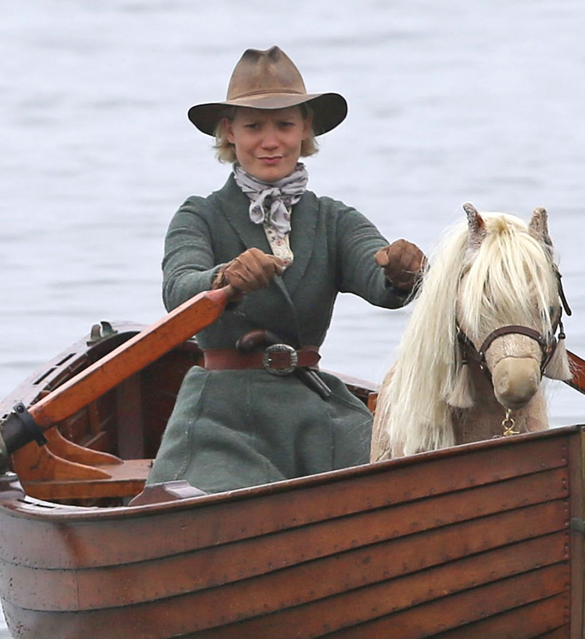 MIA WASIKOWSKA on the Set of