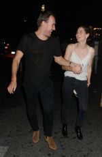 MICHELLE MONAGHAN and Her Husband Peter White Leaves Up & Down in New York 08/28/2016