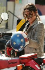 MICHELLE RODRIGUEZ Riding a Bike Out in Venice 08/28/2016