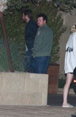 MILEY CYRUS and LIAM HEMSWORTH Night Out in Los Angeles 08/27/2016
