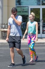 MILEY CYRUS and Liam Hemsworth Out in Calabasas 08/26/2016