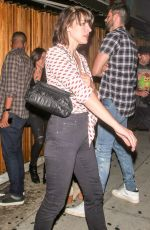 MILLA JOVOVICH at Nice Guy in Hollywood 08/27/2016