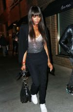NAOMI CAMPBELL Out for Dinner in New York 08/04/2016