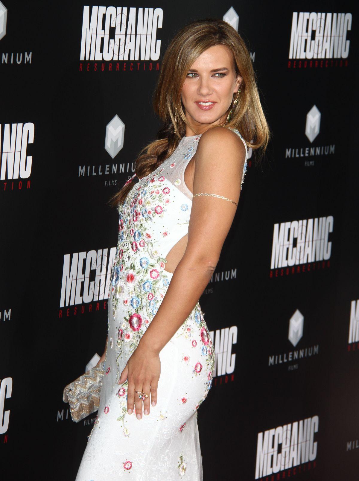 NATALIE BURN at 'Mechanic: Resurrection' Premiere in Hollywood 08/22/2016