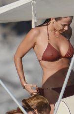NATALIE IMBRUGLIA in Bikini on a Boat in Sicily 07/08/2016