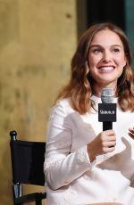 NATALIE PORTMAN at AOL Build Speaker Series in New York 08/18/2016
