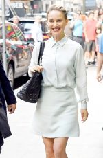 NATALIE PORTMAN Leaves Good Morning America in New York 08/15/2016