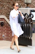 NATALIE PORTMAN Leaves Her Hotel in New York 08/16/2016