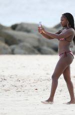 NATURI NAUGHTON in Bikini at a Beach in Barbados 07/29/2016