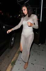 NAYA RIVERA Night Out in West Hollywood 08/19/2016