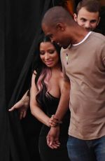 NICKI MINAJ on the Set of a Music Video on Sunset Blvd in in Los Angeles 08/25/2016