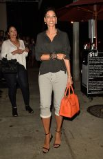 NICOLE MURPHY Out for Dinner in West Hollywood 08/23/2016