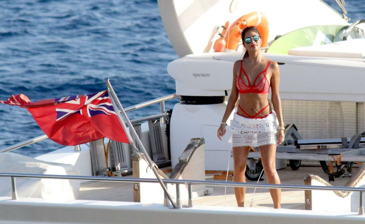 NICOLE SCHERZINGER in Bikini on a Yacht in Mykonos 08/02/2016