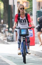 NINA AGDAL Heading to a Gym in New York 08/21/2016