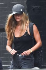 NINA AGDAL Leaves SoulCycle in New York 08/11/2016