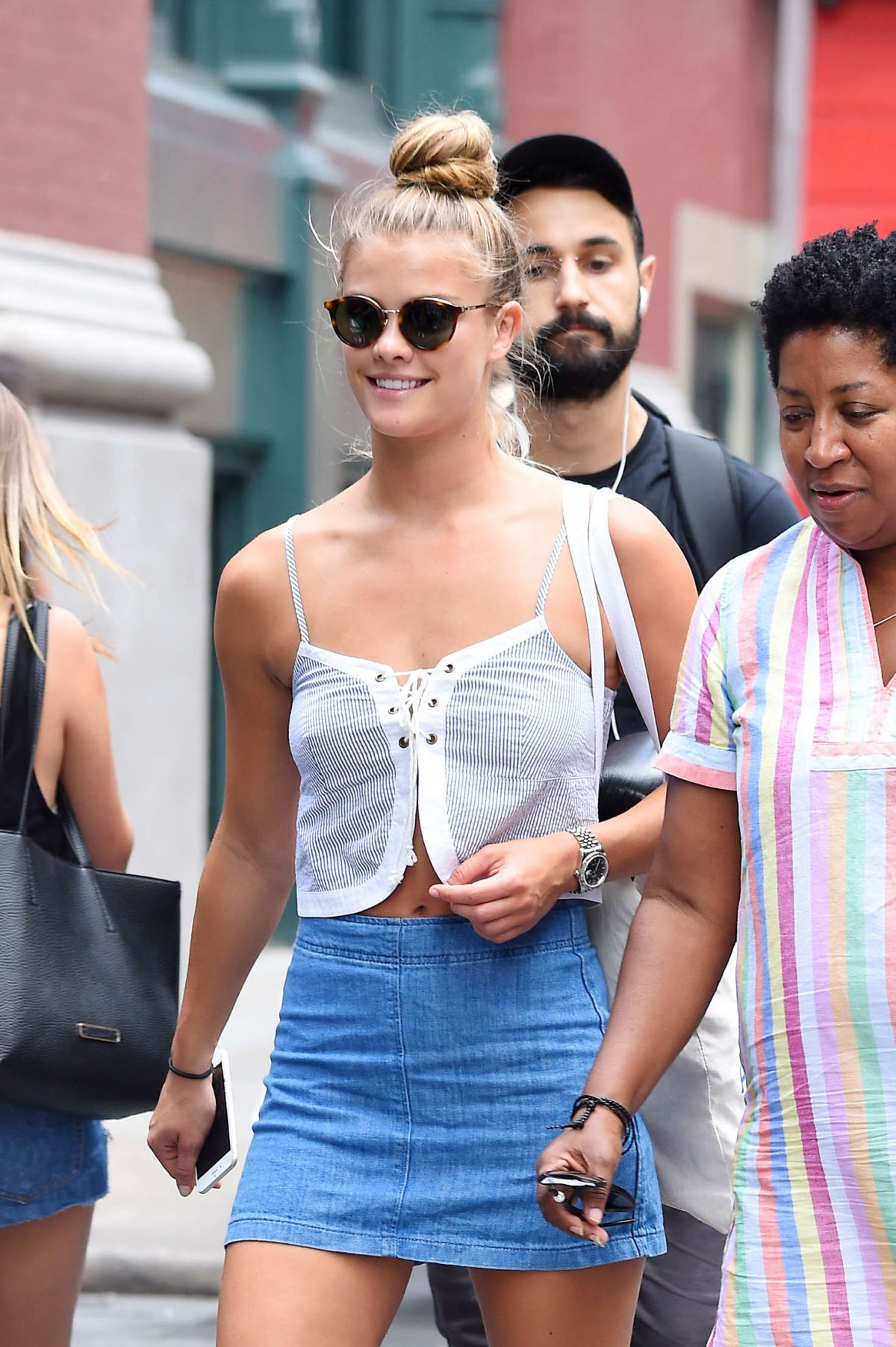 NINA AGDAL Out and About in New York 08/03/2016