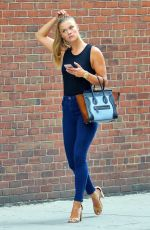 NINA AGDAL Out and About in New York 08/18/2016