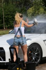 OLA JORDAN Washing Her Car in Kent 08/19/2016 - HawtCelebs
