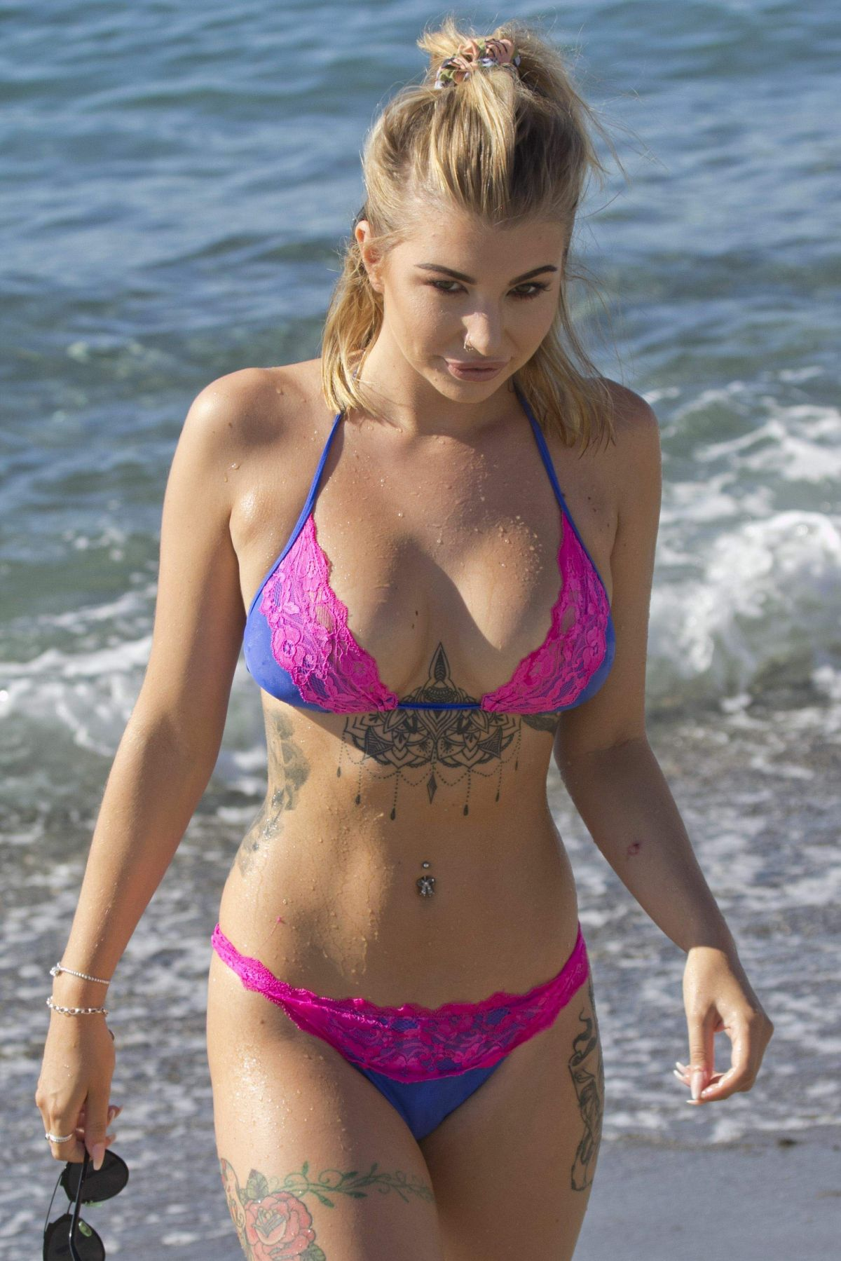 OLIVIA BUCKLAND in Bikini at a Beach in Marbella 08/08/2016
