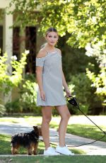 OLIVIA HOLT Walks Her Dogs Out in Los Angeles 08/18/2016