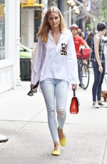 OLIVIA PALERMO Out and About in New York 08/19/2016.