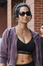 PADMA LAKSHMI in Tights Out in New York 08/27/2016