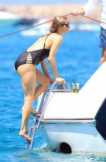 PARIS HILTON in Swimsuit at a Boat in Ibiza 08/01/2016