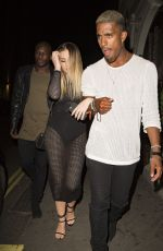 PERRIE EDWARDS Leaves Mahiki Nightclub in London 08/10/2016