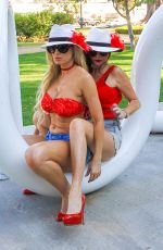 PHOEBE PRICE and ANA BRAGA at a Park in Beverly Hills 08/04/2016