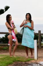 PIA MILLER and ISABELLA GIOVINAZZO on the Set of