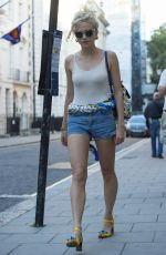 PIXIE LOTT in Jeand Shorts Out in London 08/23/2016