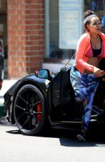 Pregnant ANGELA SIMMONS Out in Beverly Hills 08/18/2016