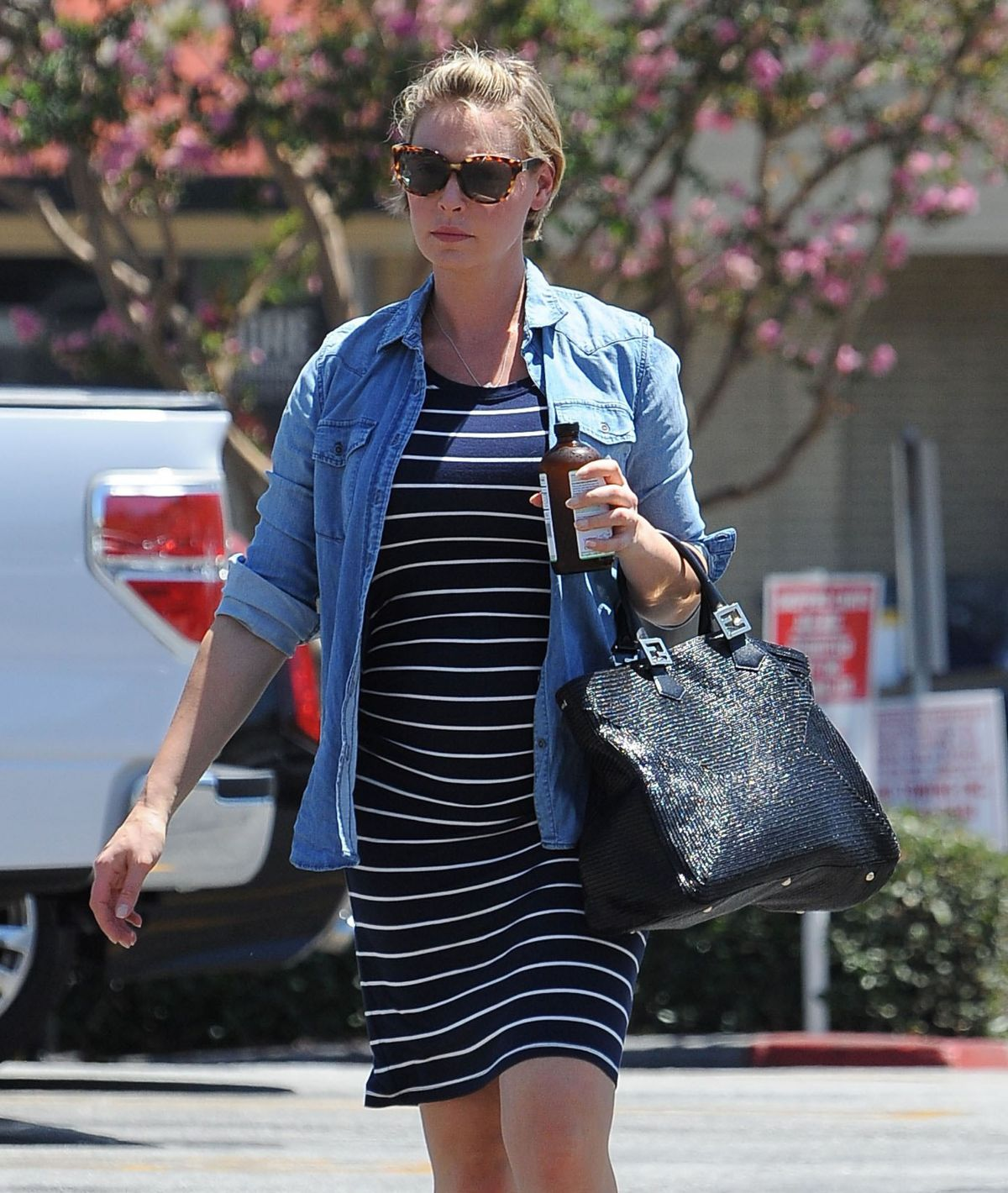 Pregnant KATHERINE HEIGL Out In Los Angeles 08/15/2016 ...