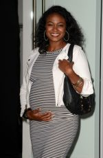 Pregnant TATYANA ALI at 4moms Car Seat Launch in Los Angeles 08/04/2016