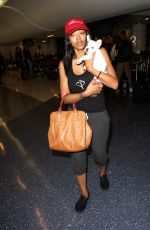PRINCESS LOVE with Her Dog at LAX Airport in Los Angeles 08/25/2016