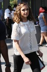 RACHEL LEIGH COOK on the Set of Extra at Universal Studios 08/18/2016