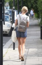RACHEL RILEY in Shorts Out and About in London 08/09/2016