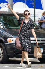 RACHEL WEISZ Hailing a Cab Out in New York 08/26/2016